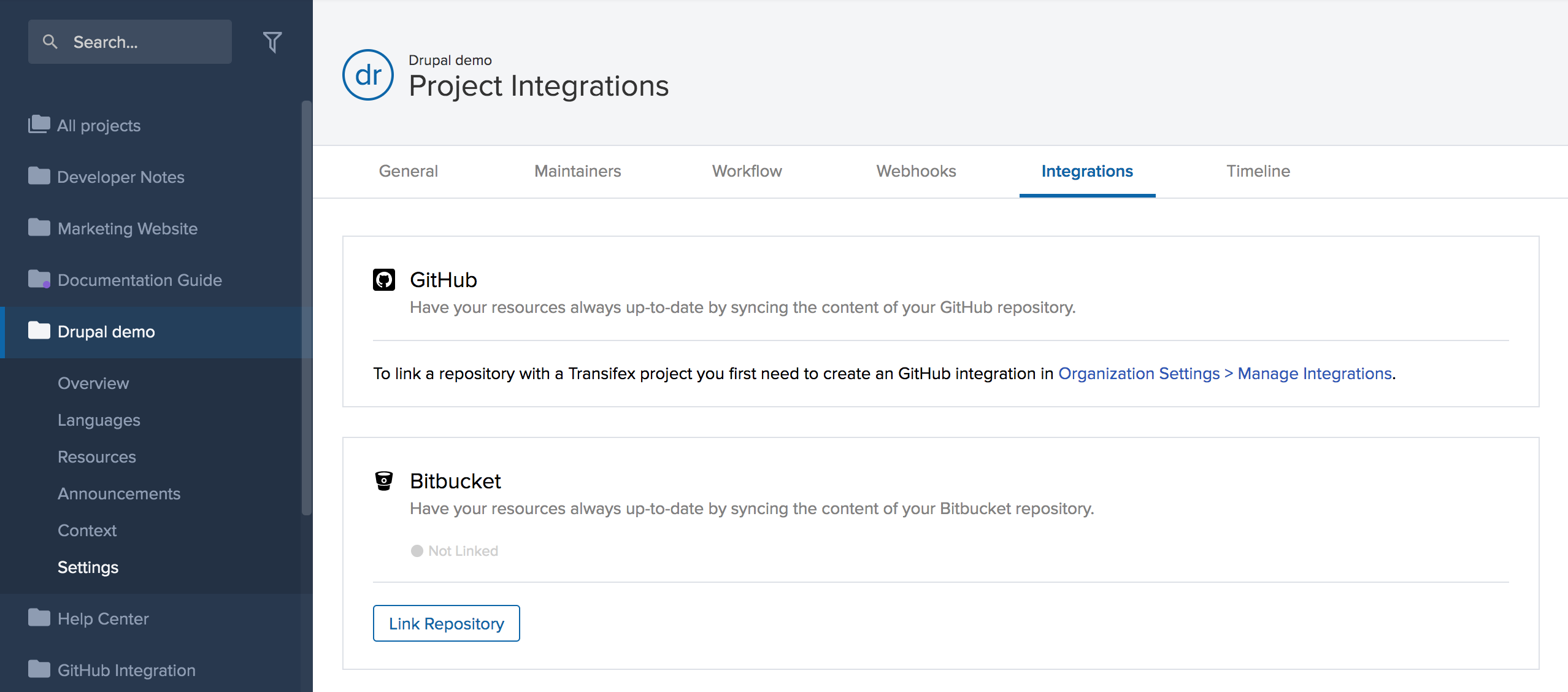 Bitbucket | Transifex Documentation