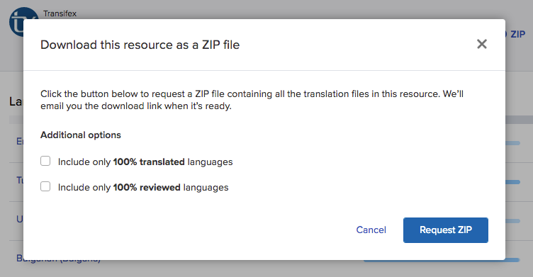 Downloading Translations | Transifex Documentation